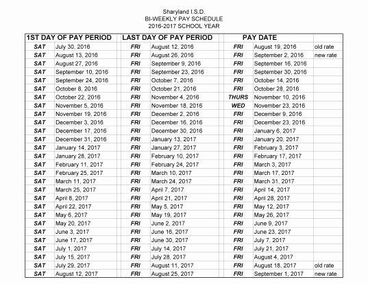 Biweekly Payroll Calendar Template 2017 Fresh 2018 Biweekly Payroll Calendar Template Free