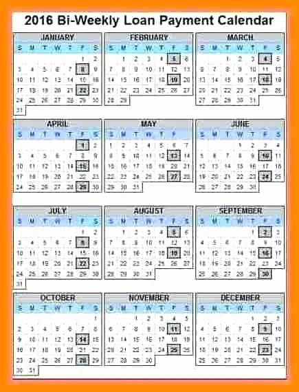 Biweekly Payroll Calendar Template 2017 Inspirational Work Week Calendar Template Excel Weekly Biweekly Bi 2017