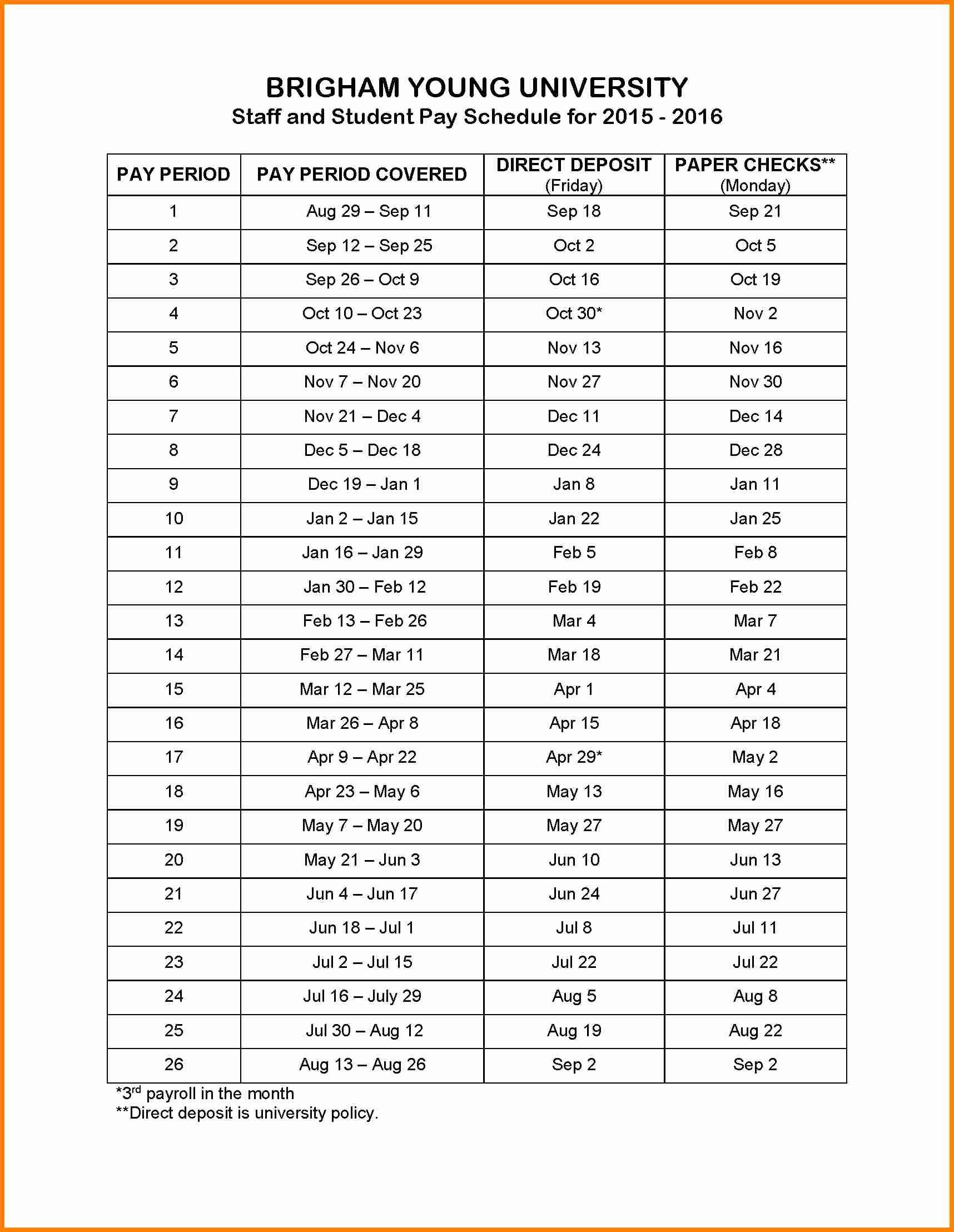Biweekly Payroll Calendar Template 2017 Luxury 8 Payroll Calendar Template 2016