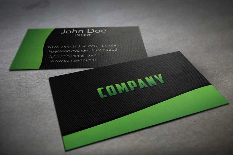 Black Business Card Template Awesome 130 Best Free Psd Business Card Templates Techclient