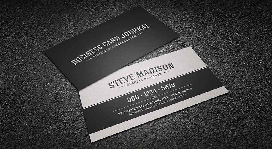 Black Business Card Template Awesome Free Retro & Vintage Business Card Templates Business