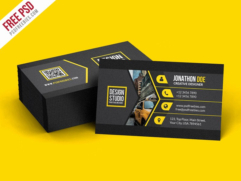 Black Business Card Template Beautiful Creative Black Business Card Template Psd