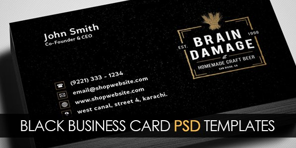 Black Business Card Template Best Of 17 Dark Business Card Psd Template Black Business
