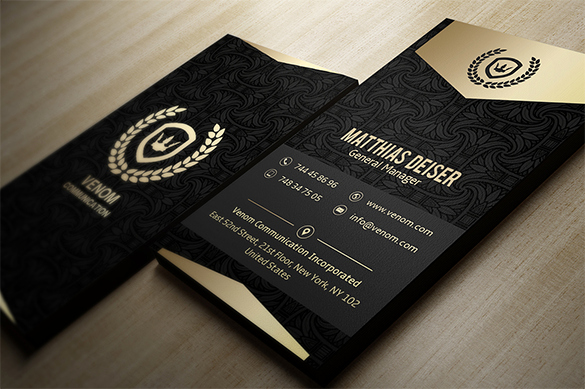 Black Business Card Template Best Of 39 Black Business Card Templates Word Ai Psd