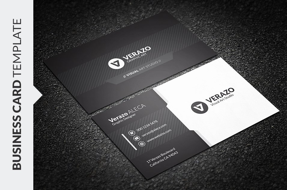 Black Business Card Template Best Of Black & White Business Card Business Card Templates