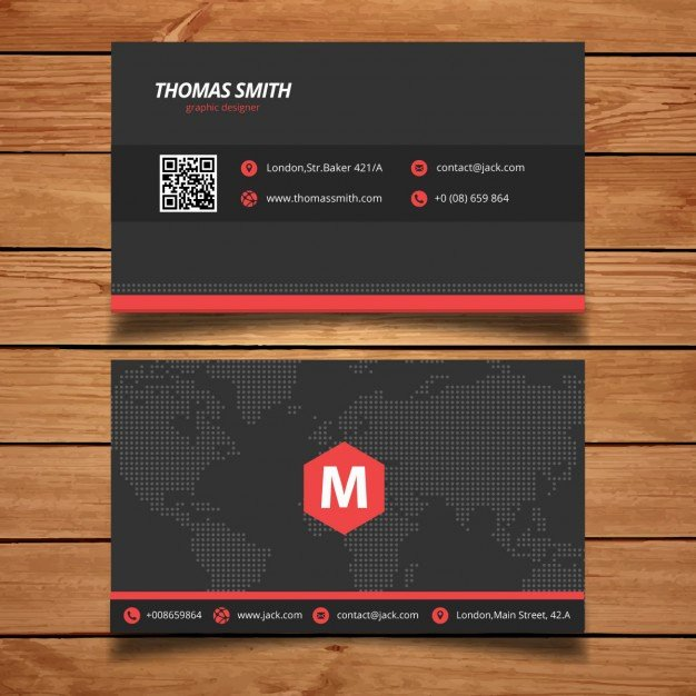 Black Business Card Template Best Of Black and Red Business Card Template Vector