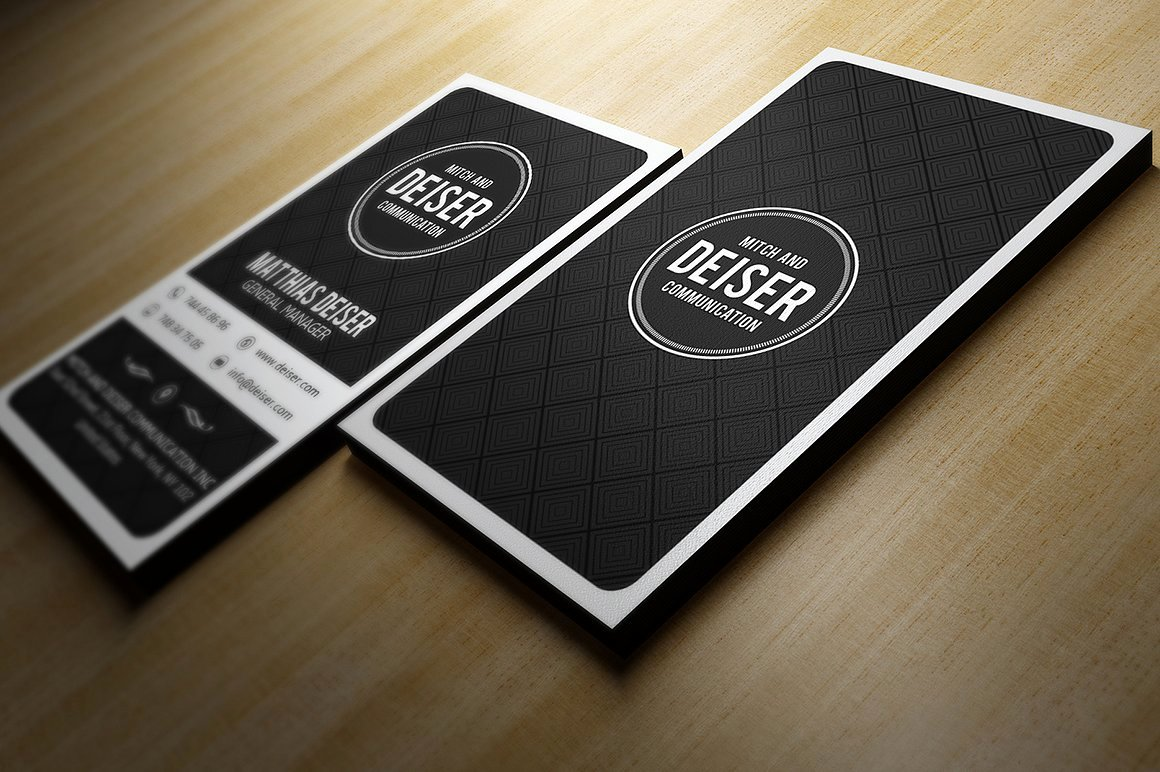 Black Business Card Template Best Of Black and White Business Card Business Card Templates