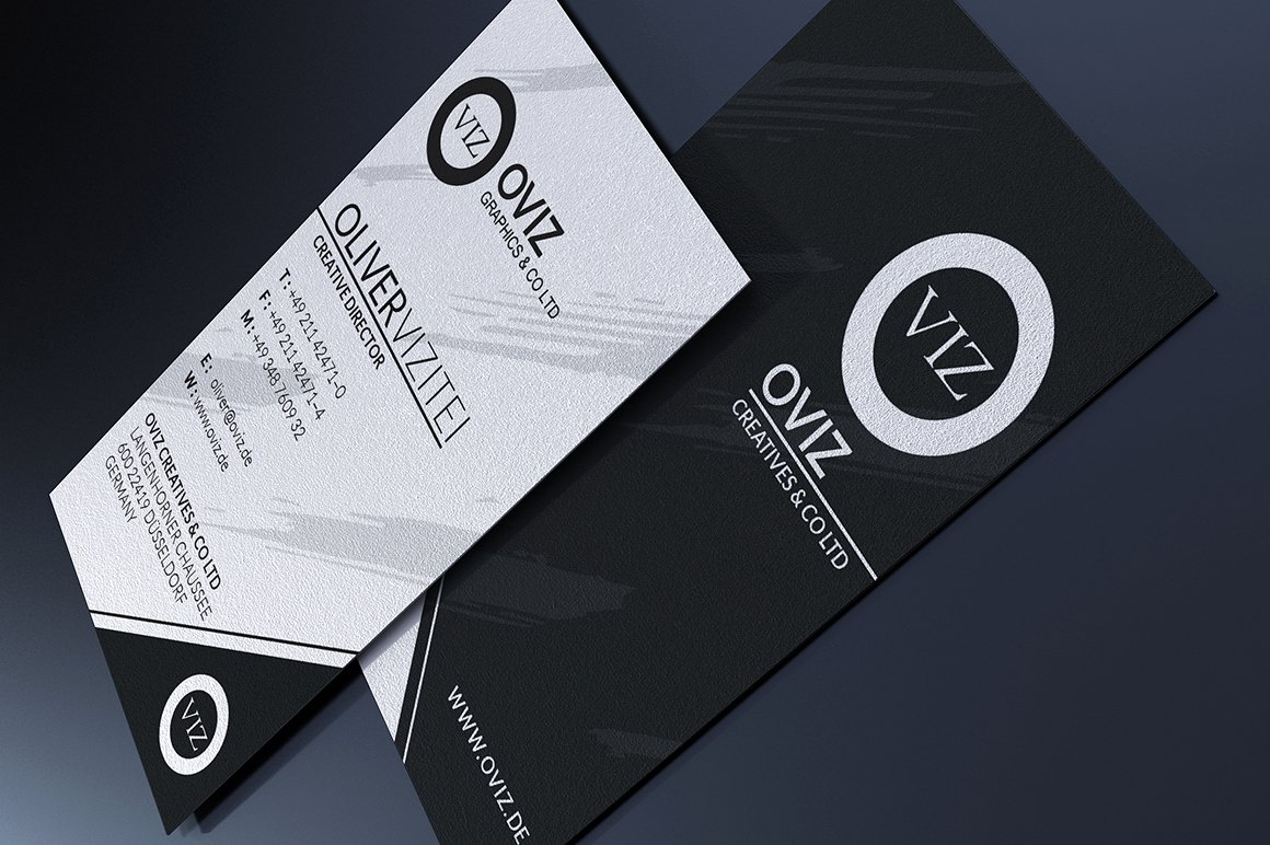 Black Business Card Template Elegant Black and White Business Card Business Card Templates On