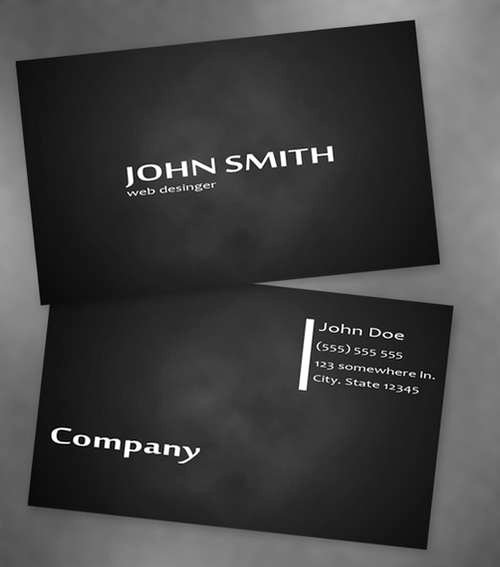 Black Business Card Template Fresh 60 Absolutely Free Dark and Black Business Card Templates