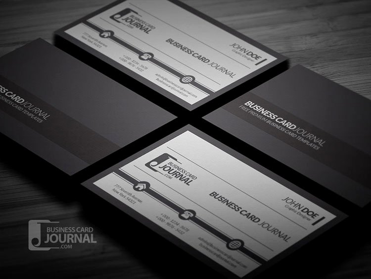Black Business Card Template Inspirational 10 Free Black & White Business Card Templates Psd