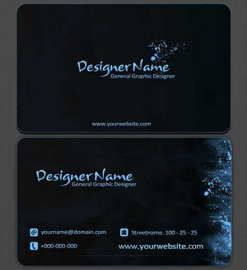 Black Business Card Template Inspirational 60 Absolutely Free Dark and Black Business Card Templates