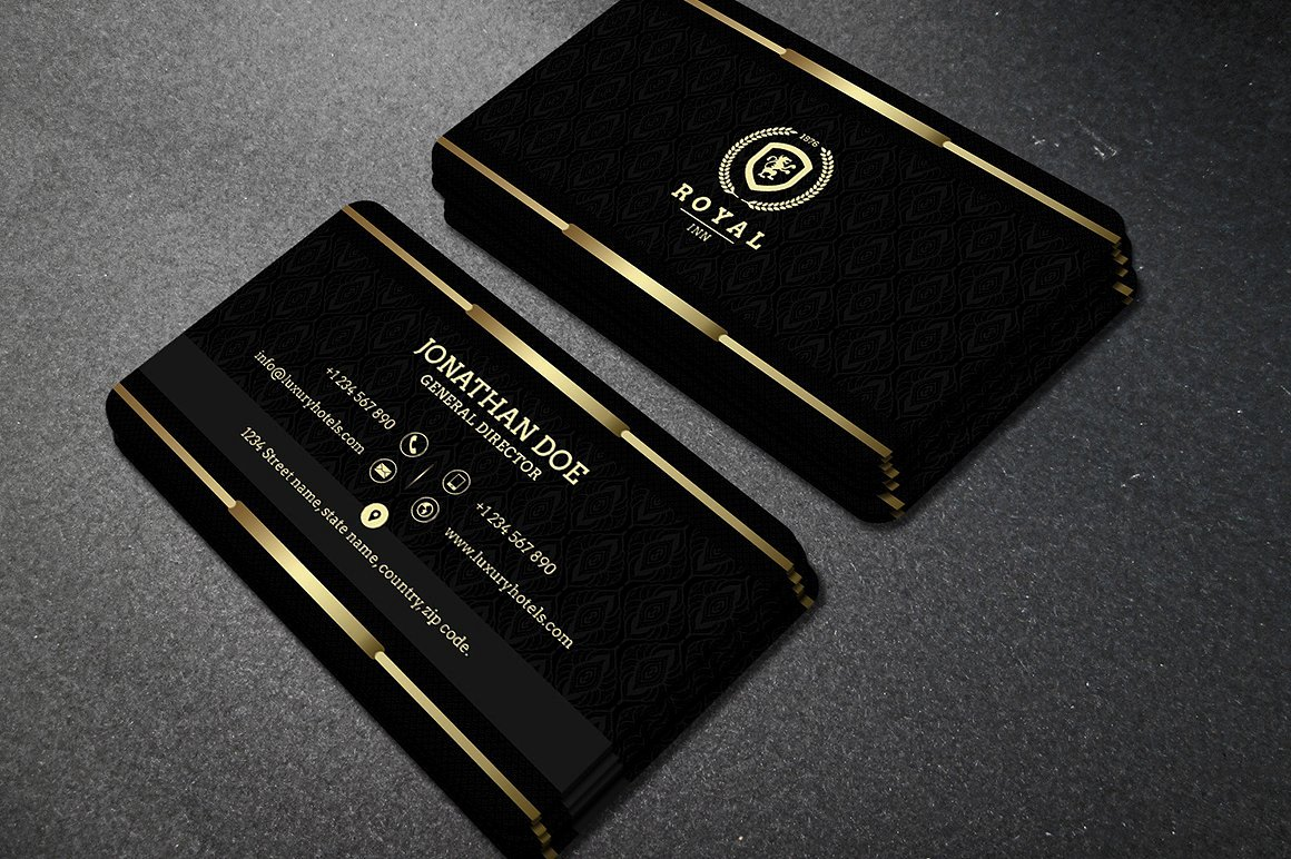 Black Business Card Template Inspirational Gold and Black Business Card 40 Business Card Templates