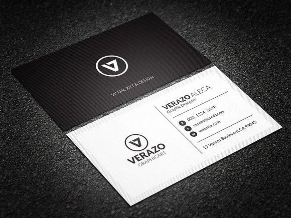 Black Business Card Template Inspirational Minimal Black & White Business Card Business Card