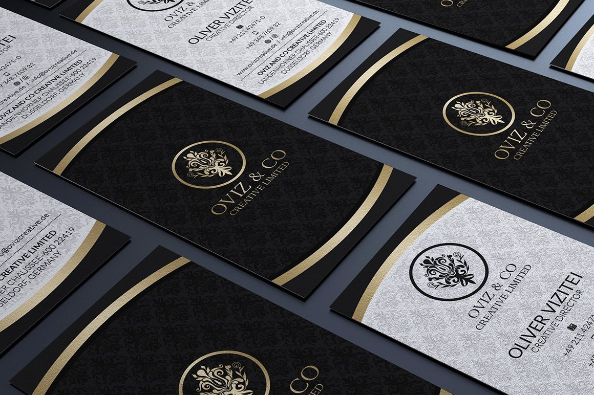 Black Business Card Template Lovely Gold and Black Business Card Business Card Templates