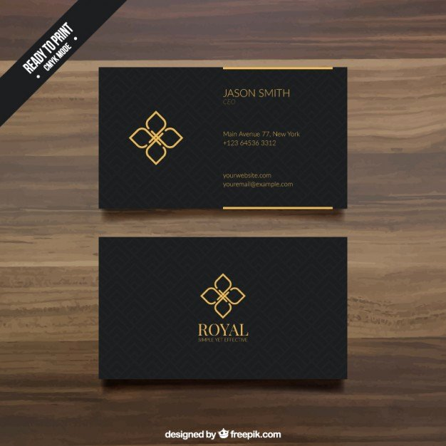 Black Business Card Template Luxury Black Business Card Template Vector