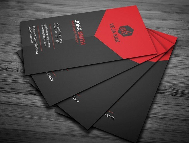 Black Business Card Template Luxury Free Black and Red Creative Business Card Template Psd