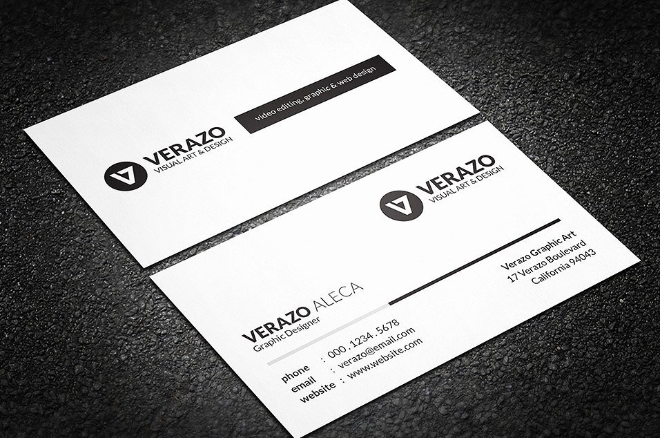 Black Business Card Template Luxury Simple Black & White Business Card Business Card