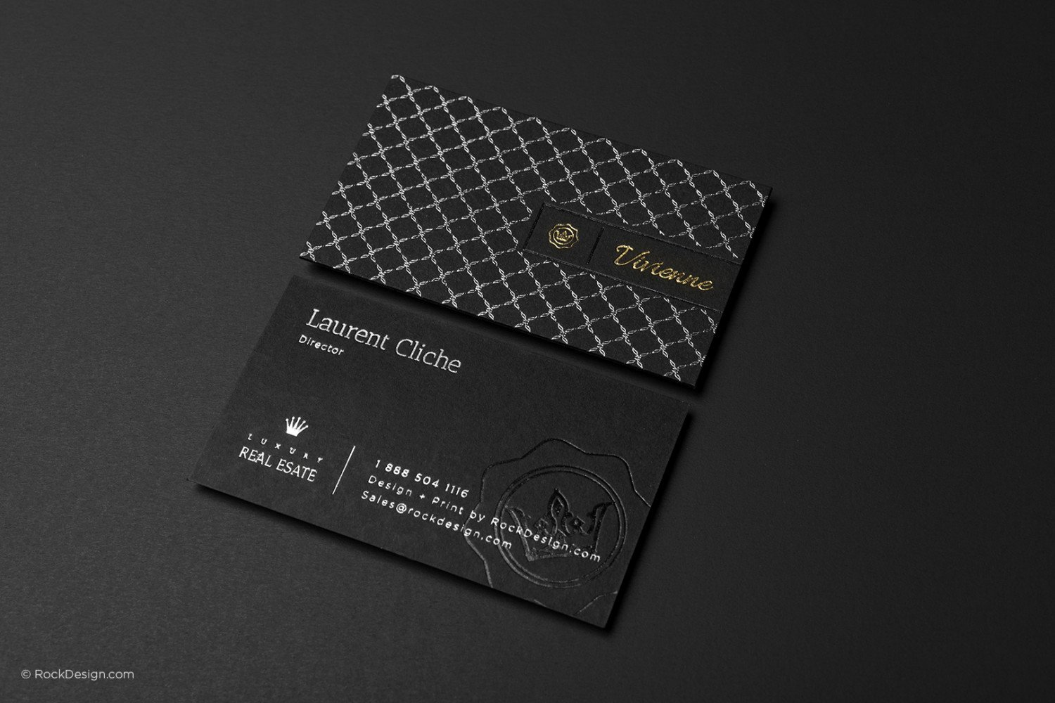 Black Business Card Template New Free Silver Foil Texture Visiting Card Templates