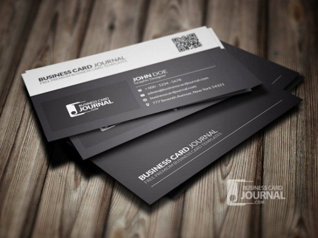 Black Business Card Template Unique Black and White Business Card Template Psd File