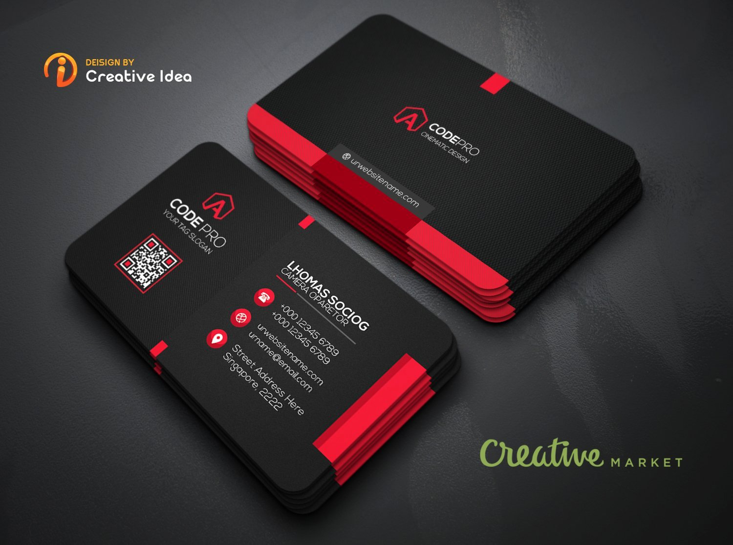 Black Business Card Template Unique Black Business Card Business Card Templates Creative