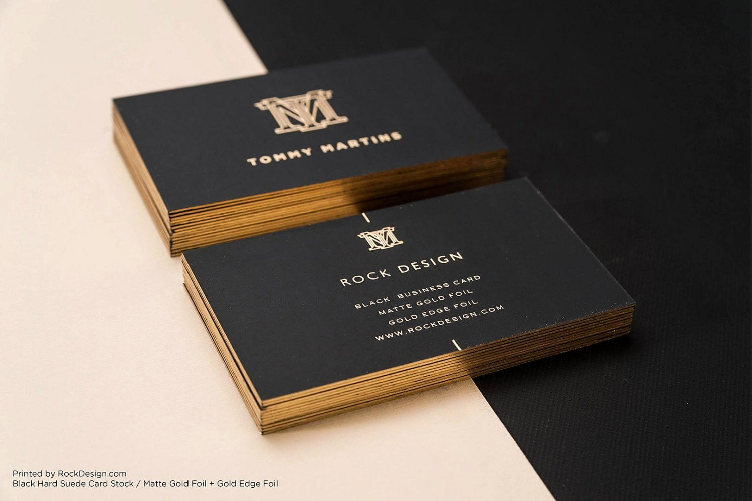 Black Business Card Template Unique Free Gold Foil Monogram Elegant Black Business Template