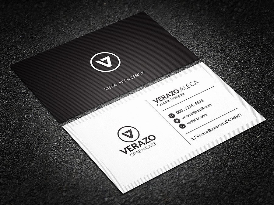 Black Business Card Template Unique Minimal Black & White Business Card Business Card