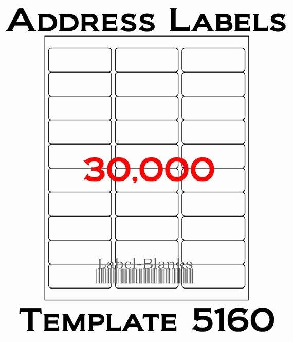 Blank Address Label Template Awesome Laser Ink Jet Labels 1000 Sheets 1 X 2 5 8