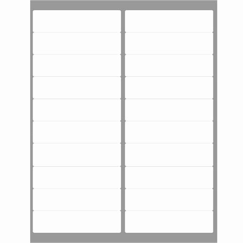 """Blank Address Label Template Elegant 4"""" X 1"""" 1 000 Address Labels Patible to Avery 5161"""