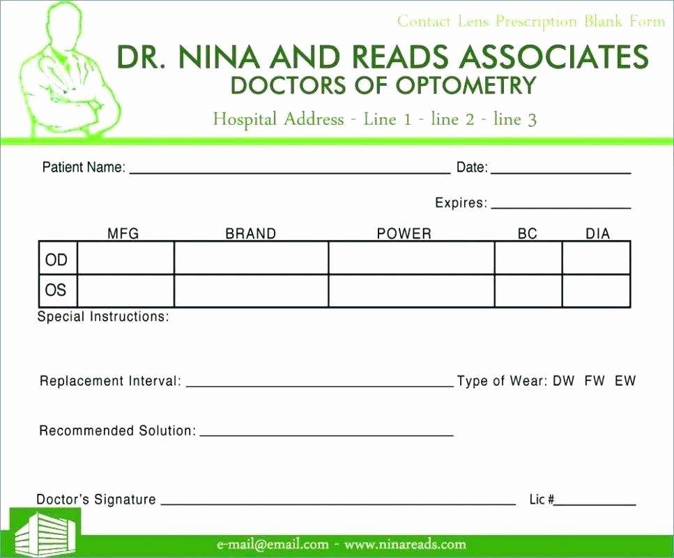 prescription blank template