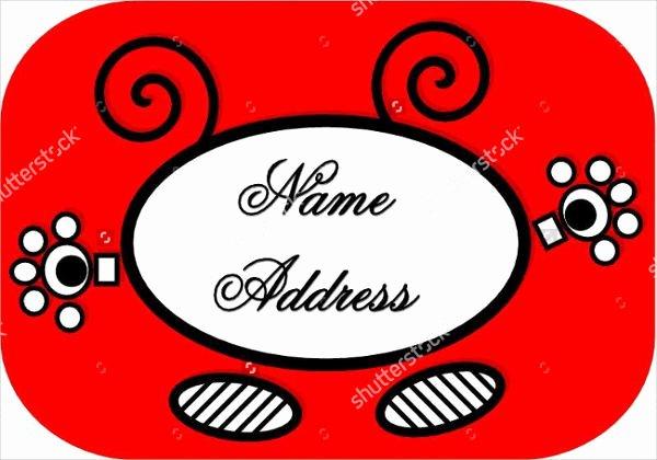 Blank Address Label Template Lovely 16 Blank Address Label Templates Free Printable Psd