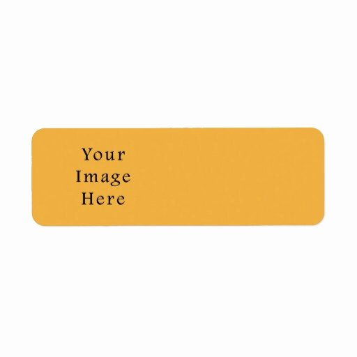 Blank Address Label Template Lovely Mustard Yellow Color Trend Blank Template Return Address