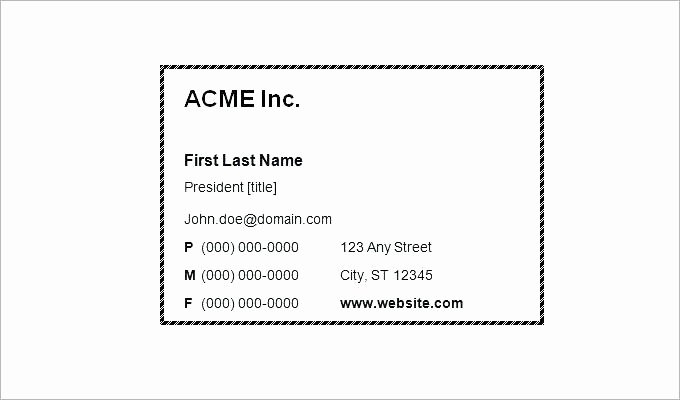 Blank Business Card Template Photoshop Best Of Beaufiful Business Card Template 8371 Business