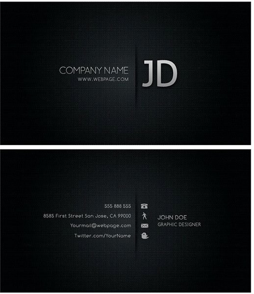 Blank Business Card Template Photoshop Elegant Blank Visiting Card Background Black Design
