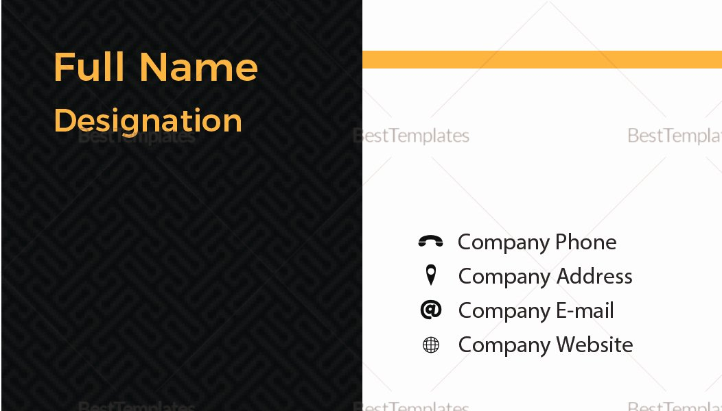Blank Business Card Template Psd Fresh Blank Business Card Design Template In Psd Word