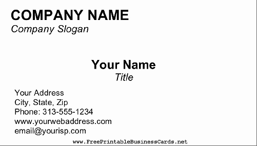 Blank Business Card Template Word Awesome Business Card Blank Template