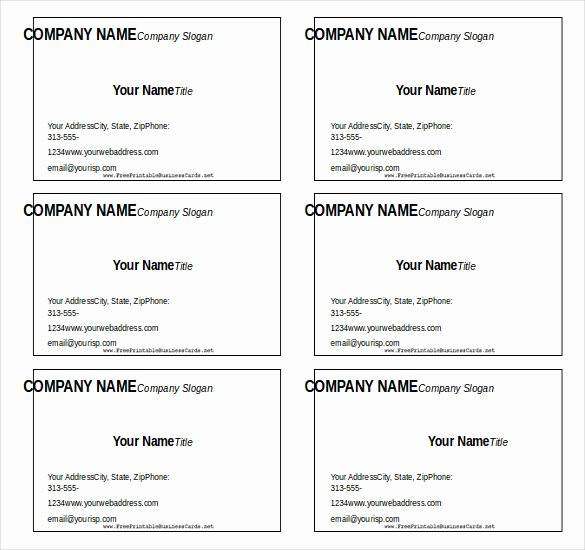 Blank Business Card Template Word Fresh 12 Microsoft Word Free Blank Templates Download