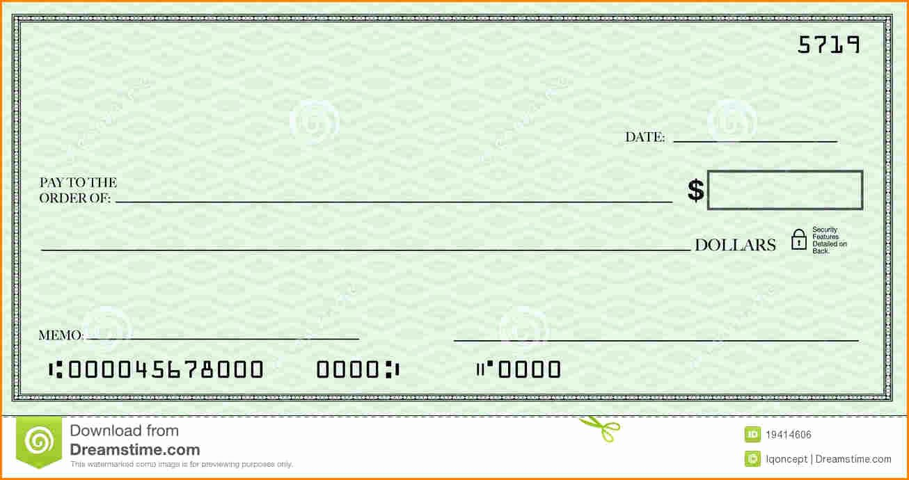 Blank Business Check Template Awesome Blank Check Template