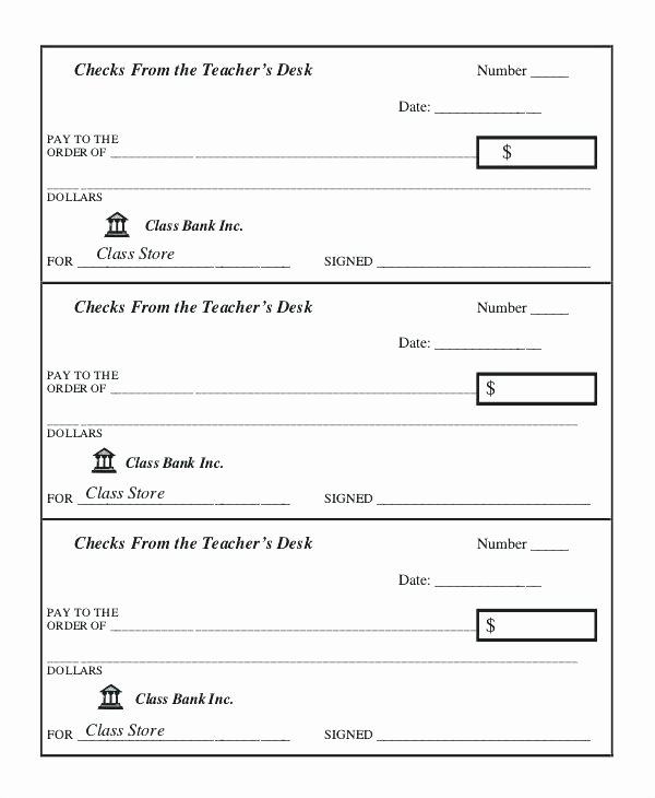 Blank Business Check Template Awesome Blank Check Templates for Word From Teacher Business
