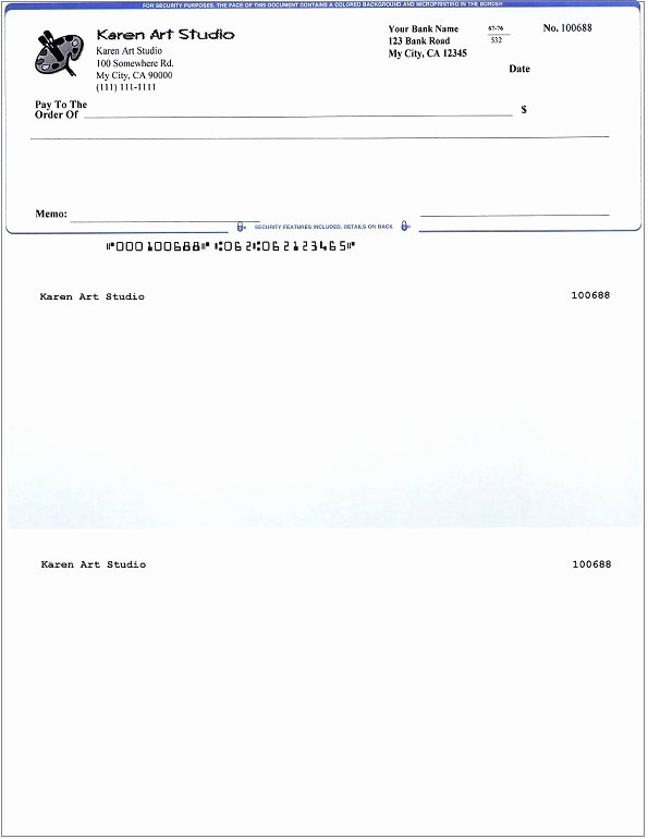 Blank Business Check Template Awesome How Does Ezcheckprinting Check Writer Work with Quicken