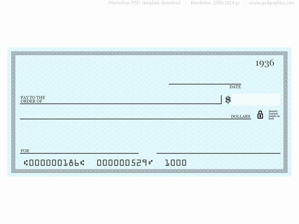 Blank Business Check Template Beautiful 7 Best Of Printable Personal Blank Check Template