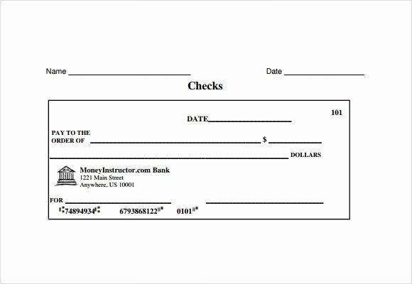 Blank Business Check Template Elegant 8 Sample Check Templates to Download