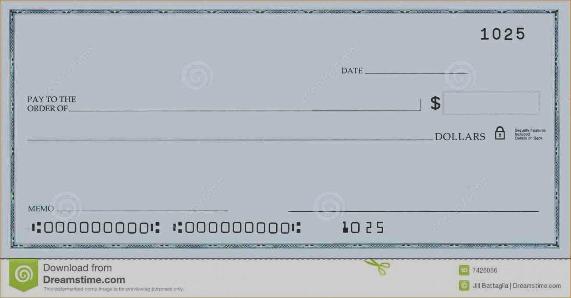 Blank Business Check Template Elegant Luxury Oversized Blank Check Template