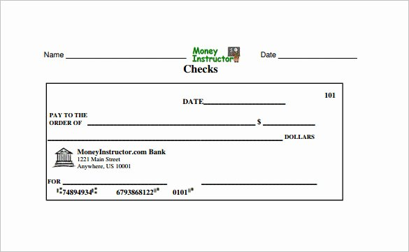 Blank Business Check Template Fresh Blank Check Template – 30 Free Word Psd Pdf & Vector