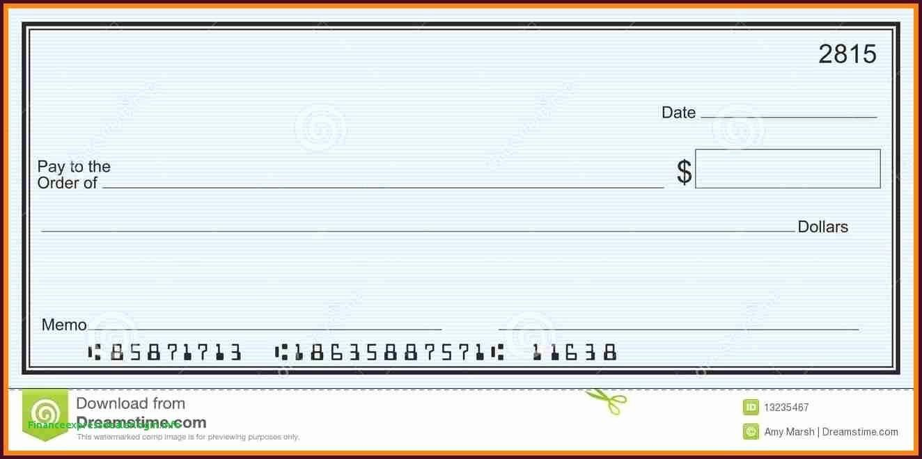 Blank Business Check Template Fresh Editable Blank Check Template Fresh Template Template