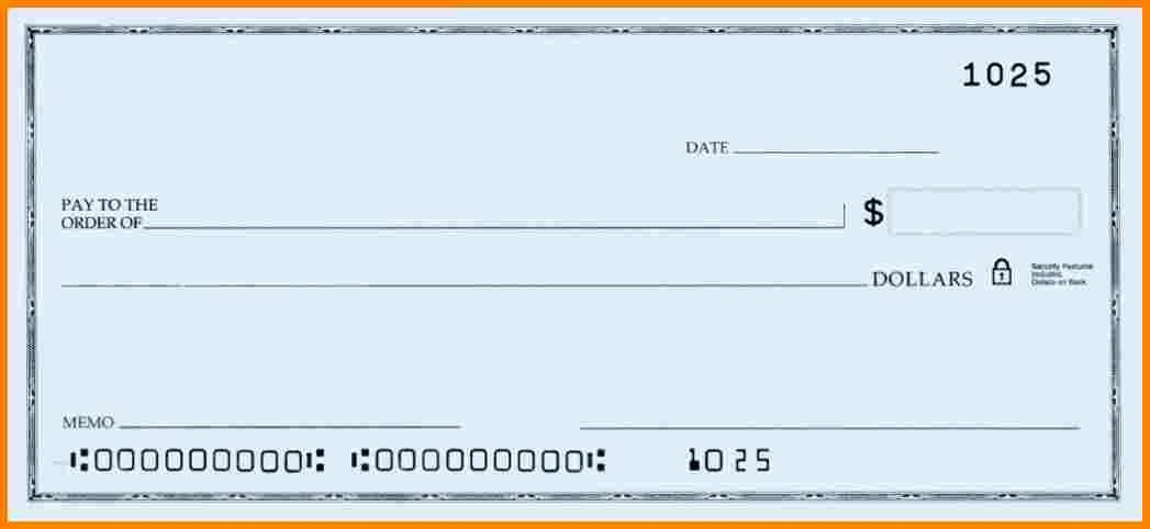 Blank Business Check Template Lovely Blank Check Template Word – Free Download