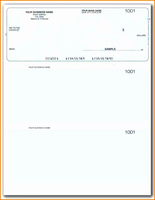 Blank Business Check Template Unique 11 Payroll Checks Templates