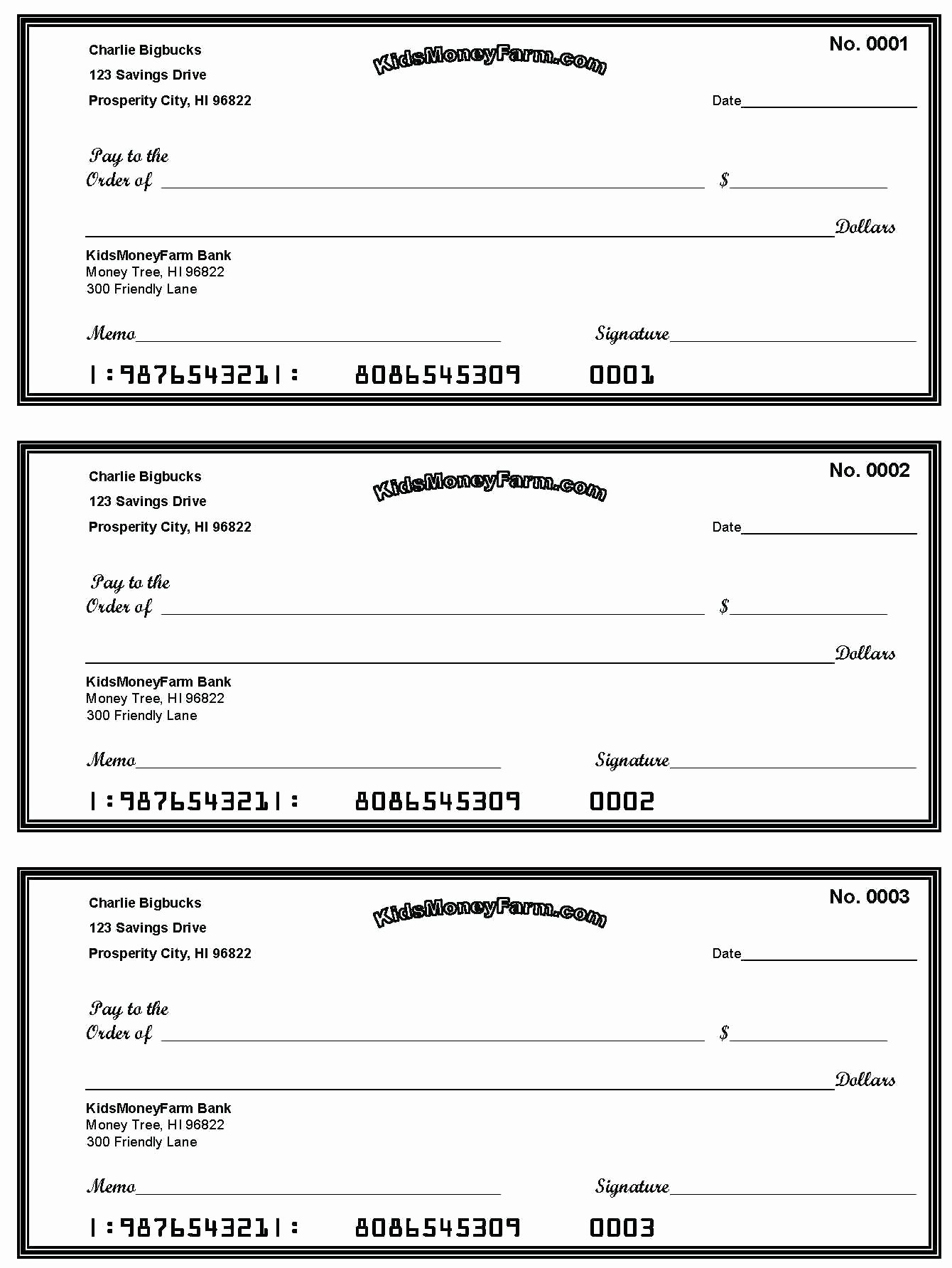 Blank Business Check Template Unique New Printable Checks