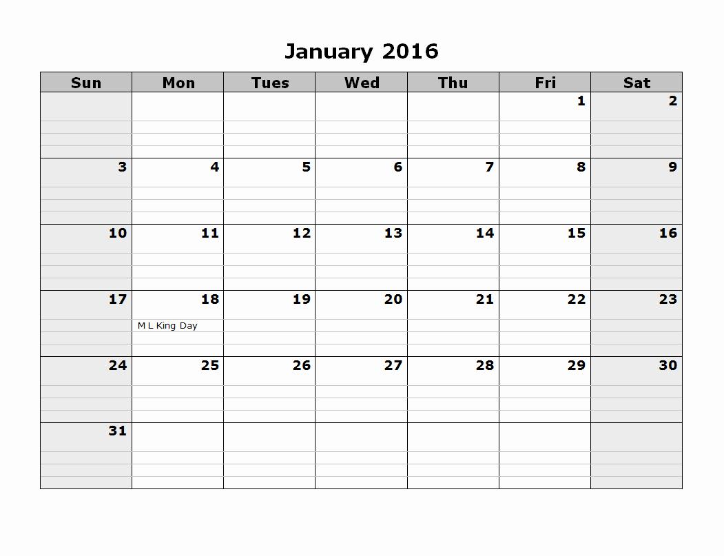 Blank Calendar Template 2016 Beautiful 2016 Monthly Calendar Template 08 Free Printable Templates