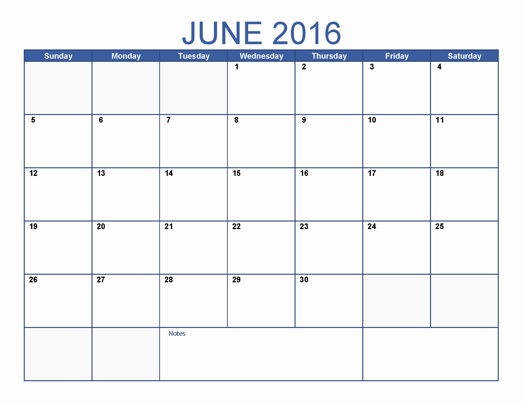 Blank Calendar Template 2016 Fresh June 2016 Printable Calendar Blank Templates