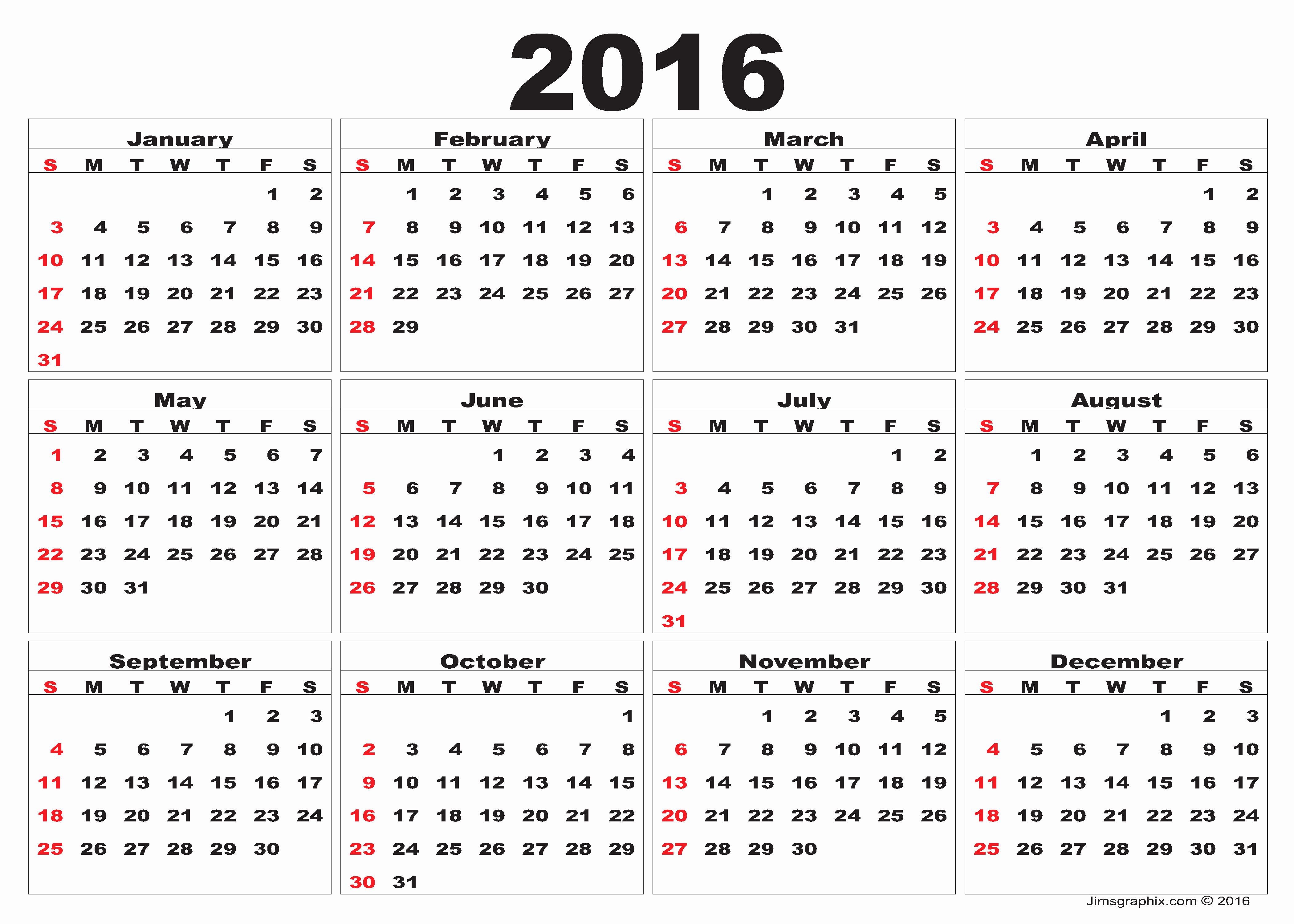 Blank Calendar Template 2016 New 2016 Calendar – Printable Calendar Templates